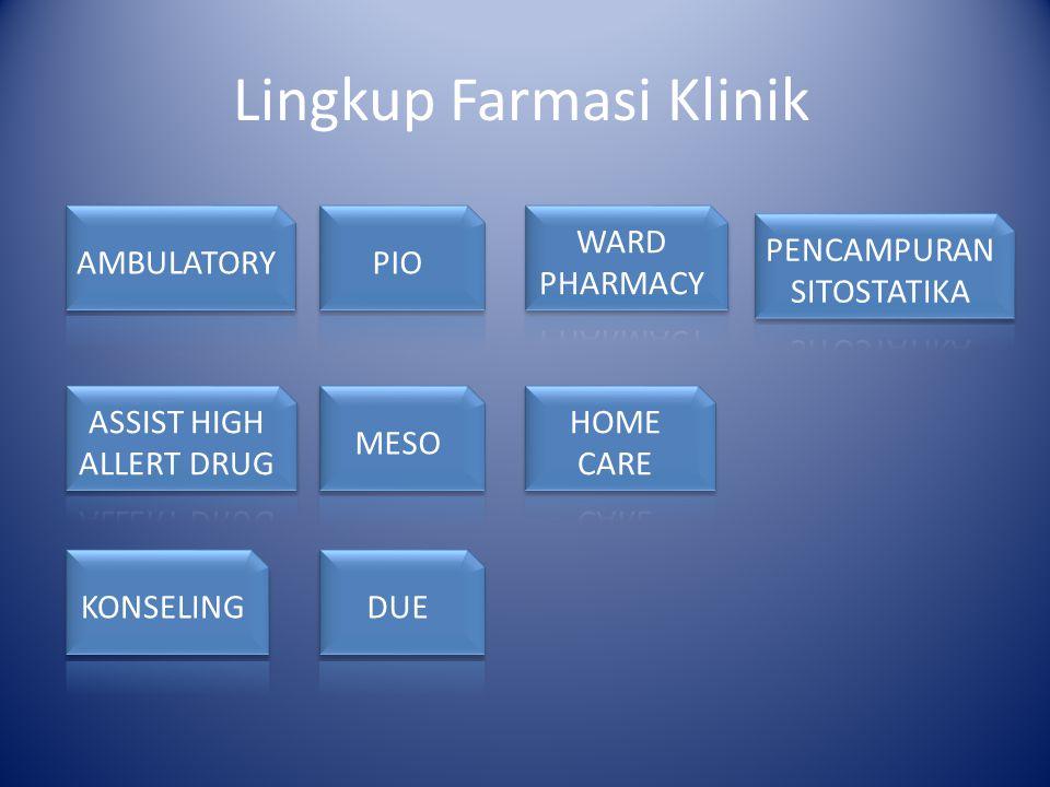 Lingkup Farmasi Klinik