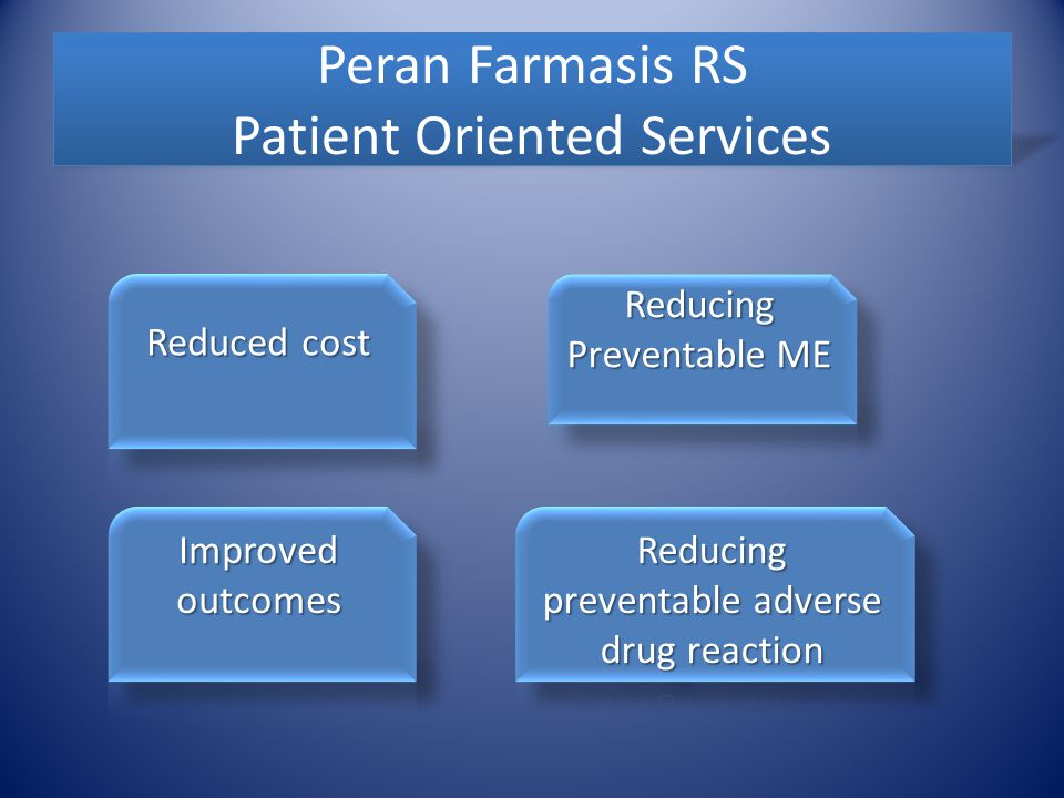 Peran Farmasis RS Patient Oriented Services
