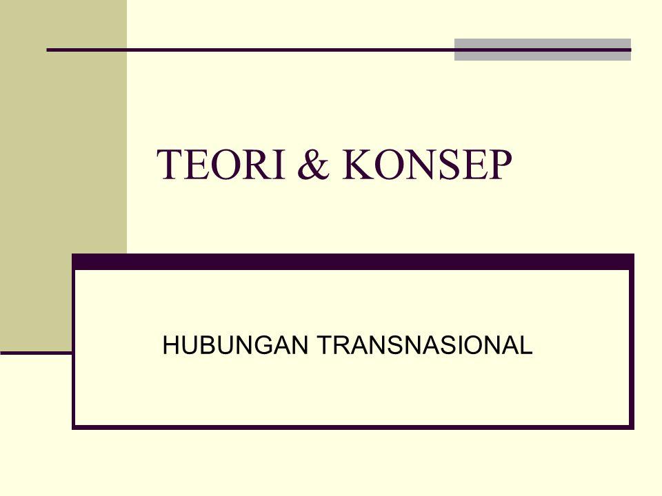 TEORI & KONSEP HUBUNGAN TRANSNASIONAL