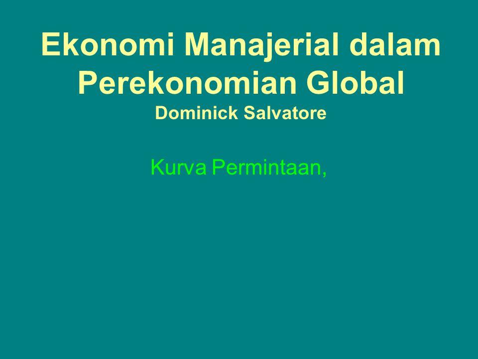 Ekonomi Manajerial dalam Perekonomian Global Dominick Salvatore Kurva Permintaan,