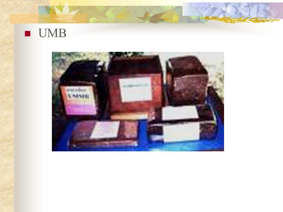 MINERAL BLOK Mineral 80 % Tetes 10% Bentonit 5% Semen putih 5% Cara Pembuatan 1.