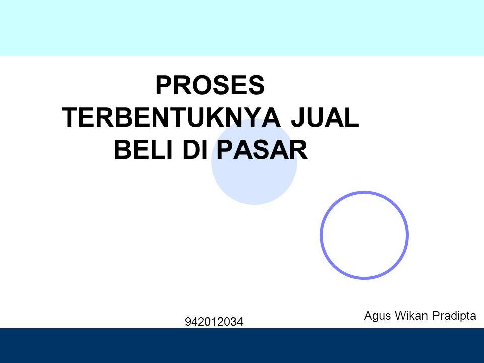 Design by Isroi@2004 PROSES TERBENTUKNYA JUAL BELI DI PASAR Agus Wikan Pradipta 942012034