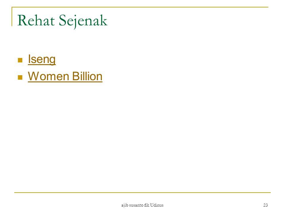 Rehat Sejenak Iseng Women Billion ajib susanto fik Udinus 23