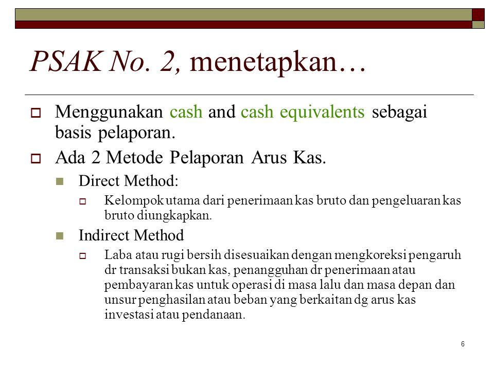 27 Grate Big Company Neraca Komparative - Aktiva December 31, 19X92000 Kas60,000Rp70,370Rp Piutang Dagang, net27,000 35,000 Sediaan Barang230,000 200,000 Sekuritas-Trading- 25,000 Peralatan, net500,000 425,000 Investasi Tiny Co.100,000 130,000 Total Aktiva917,000Rp885,370Rp Statement of Cash Flows Indirect Method