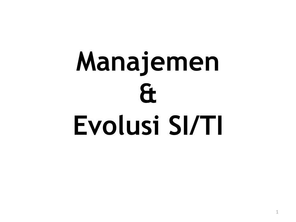 Definisi Manajemen [1] Definisi Konvensional Pencapaian tujuan-tujuan organisasional dengan jalan yang efektif dan efisien, melalui: – Perencanaan – Pengelolaan – Leading – Kontrol dan beberapa otoritas tambahan: – Staffing 2