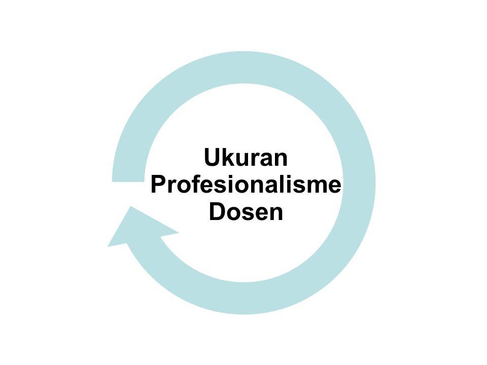 Ukuran Profesionalisme Dosen