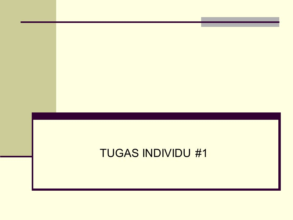 TUGAS INDIVIDU #1
