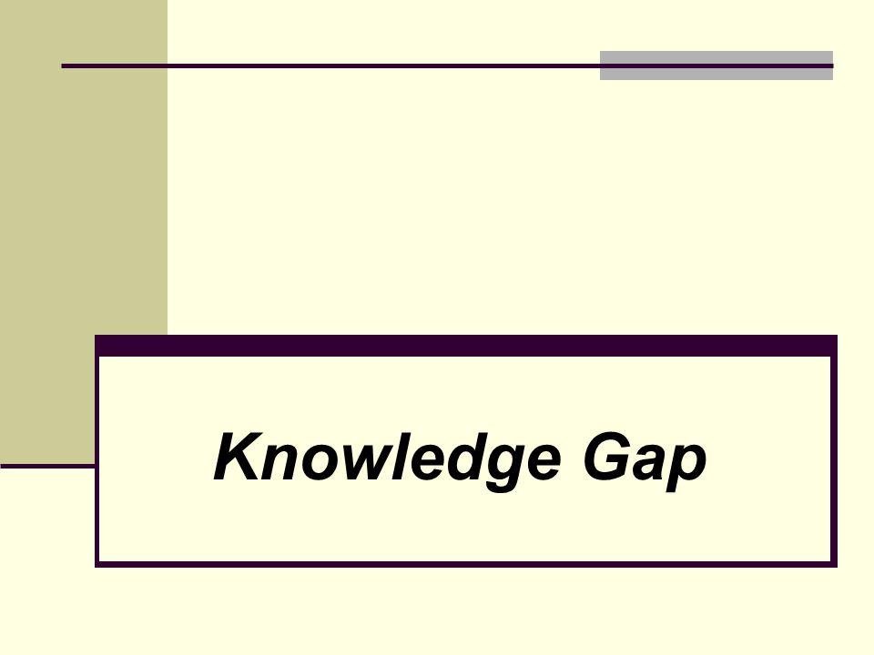 Knowledge Gap