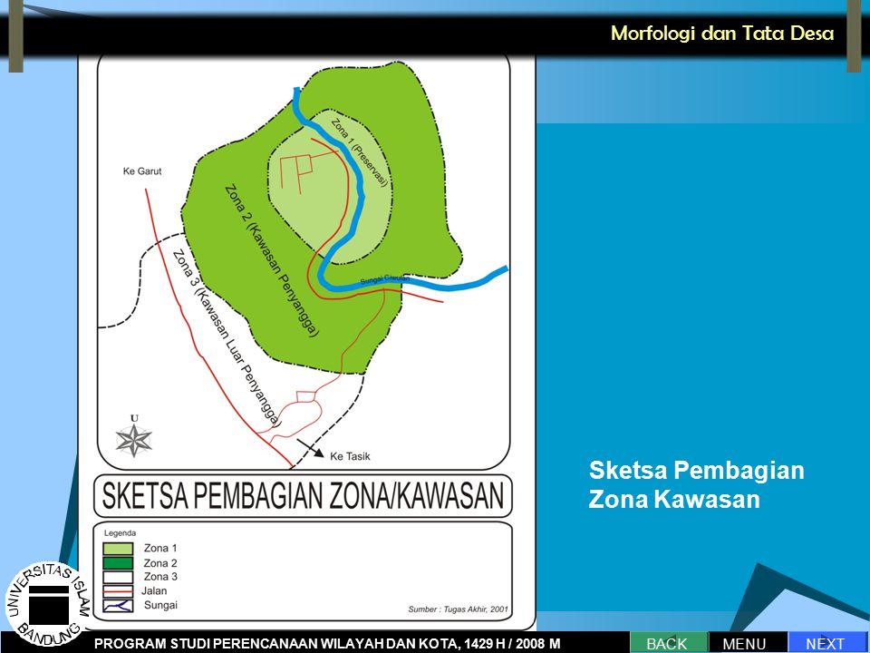 Sketsa Pembagian Zona Kawasan