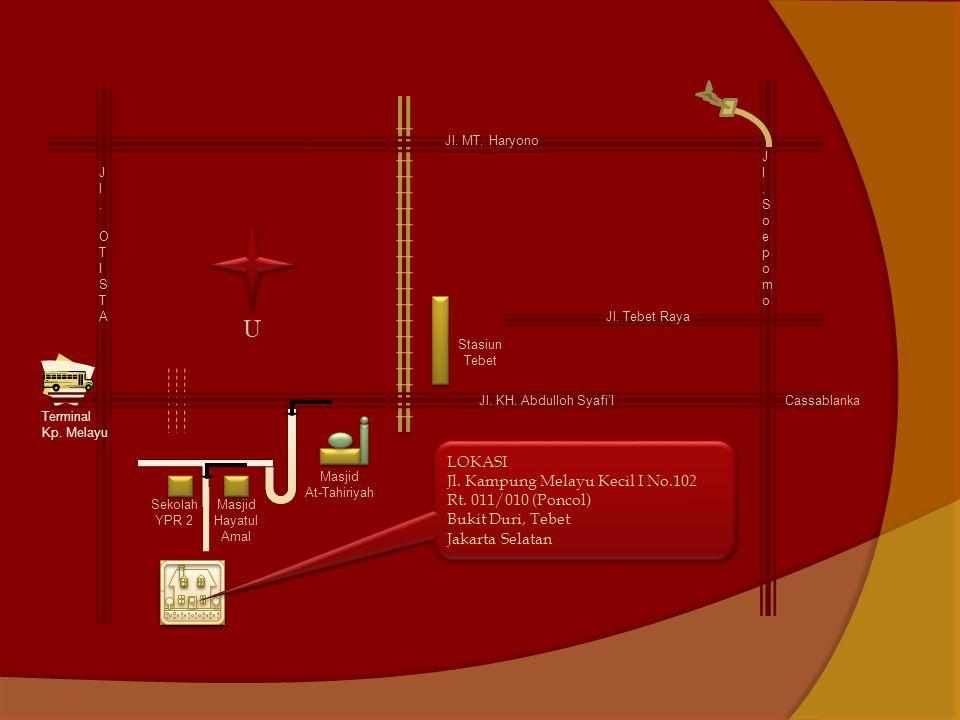 Jl.MT. Haryono Jl. OTISTAJl. OTISTA Jl. KH. Abdulloh Syafi'I Cassablanka Terminal Kp.