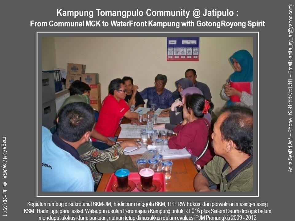 Kegiatan rembug di sekretariat BKM-JM, hadir para anggota BKM, TPP RW Fokus, dan perwakilan masing-masing KSM.