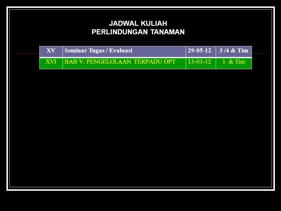 XVSeminar Tugas / Evaluasi29-05-123 /4 & Tim XVIBAB V.