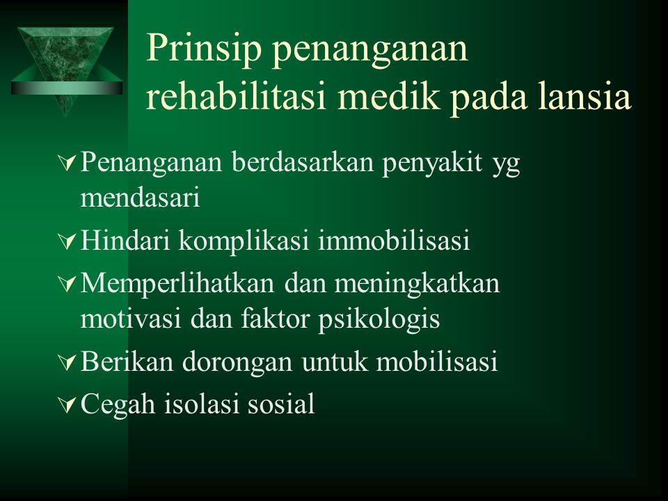 Layanan kesehatan lansia berbasis rumah sakit  Tingkat sederhana : hanya menyediakan layanan poliklinik lansia  Tingkat sedang : layanan diberikan s