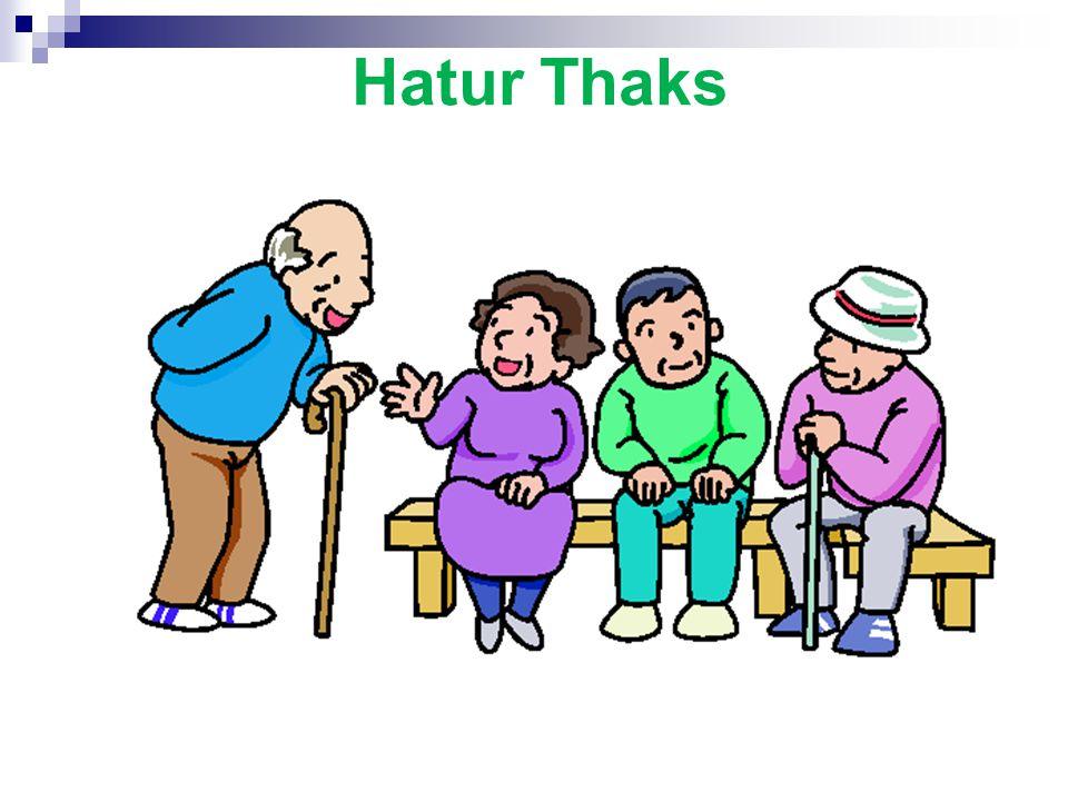 4. Kegiatan penunjang antara lain : - Senam lanjut usia - Pengajian/pendalaman agama untuk kelompok usila - Diskusi atau pertemuan ceramah - Rekreasi,