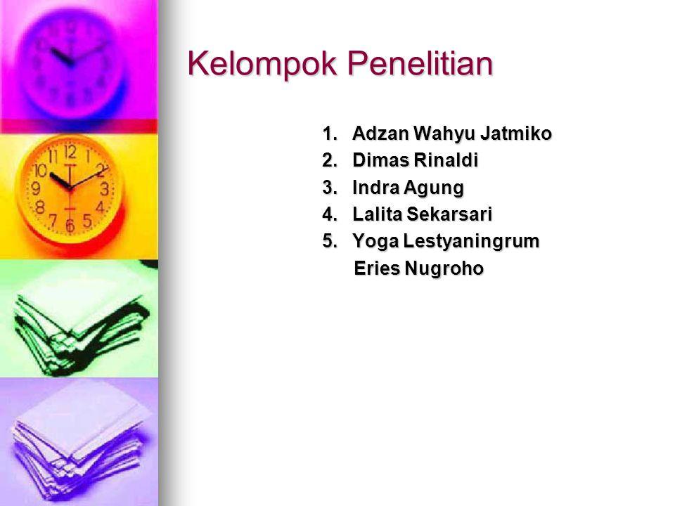Kelompok Penelitian 1.Adzan Wahyu Jatmiko 2. Dimas Rinaldi 3.