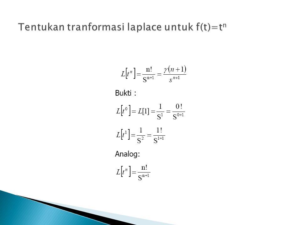 Tentukan TL f(t)=e 2t f(t)=e 6t