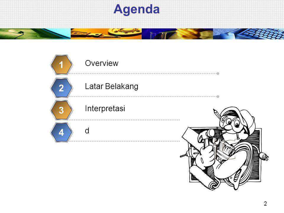 Agenda 2 Overview 1 Latar Belakang 2 Interpretasi 3 d 4