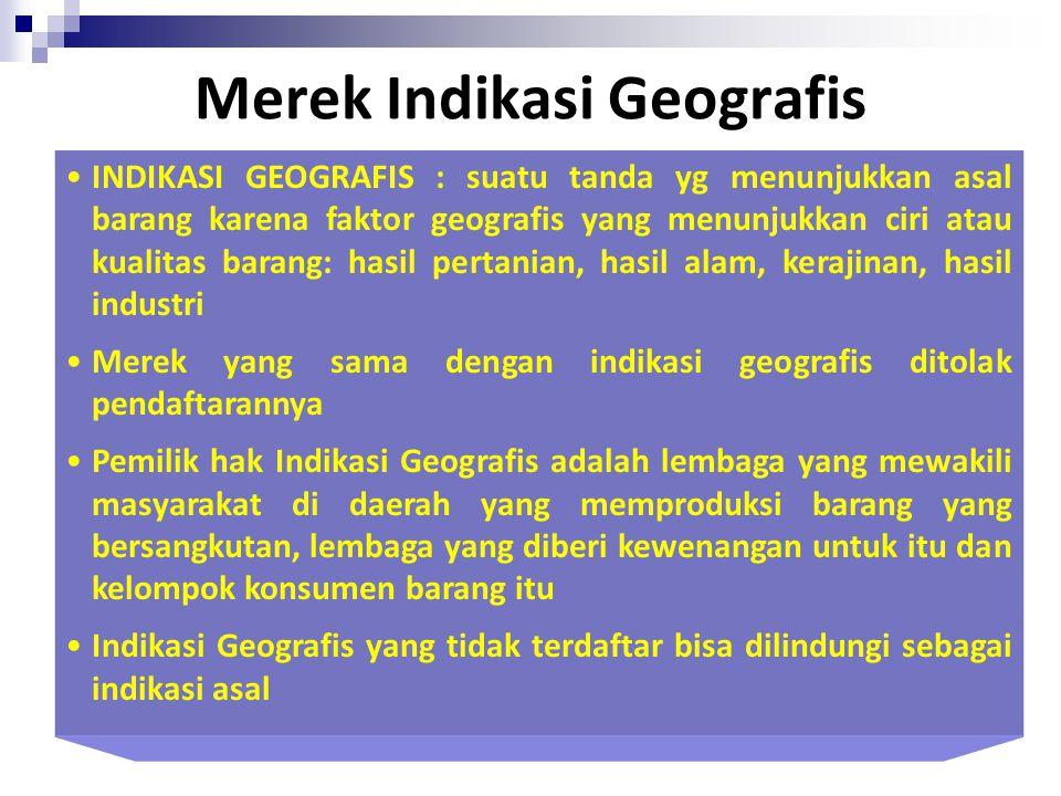 Manfaat Indikasi Geografis 1. Masyarakat/Produsen adalah: Meningkatkan harga di pasar internasional Memacu pertumbuhan ekonomi pedesaan Mengangkat rep