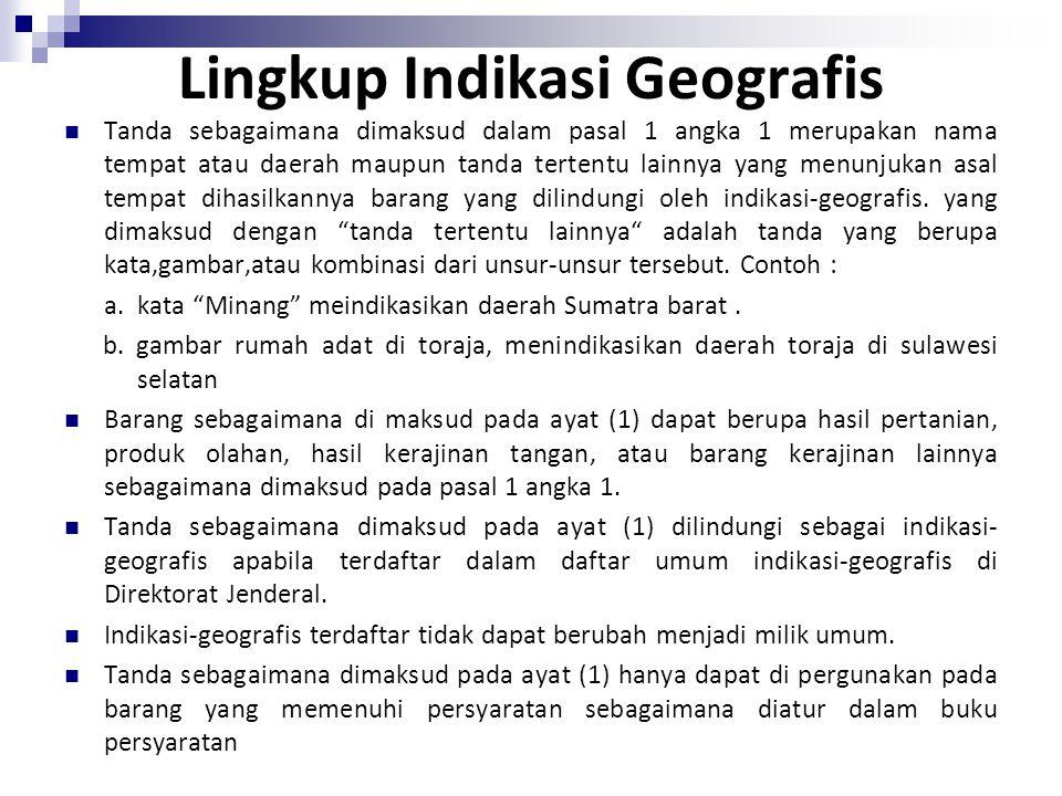 PIHAK YANG MENGAJUKAN PENDAFTARAN INDIKASI GEOGRAFIS LEMBAGA YANG MEWAKILI MASYARAKAT DI DAERAH YANG PRODUKSI BARANG YANG BERSANGKUTAN LEMBAGA YANG DI