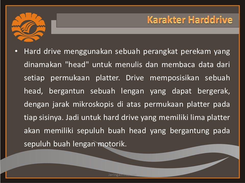 Hard drive menggunakan sebuah perangkat perekam yang dinamakan