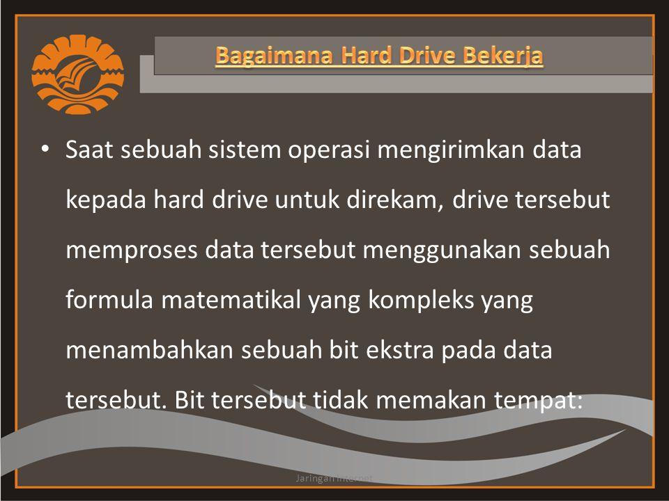 Saat sebuah sistem operasi mengirimkan data kepada hard drive untuk direkam, drive tersebut memproses data tersebut menggunakan sebuah formula matemat