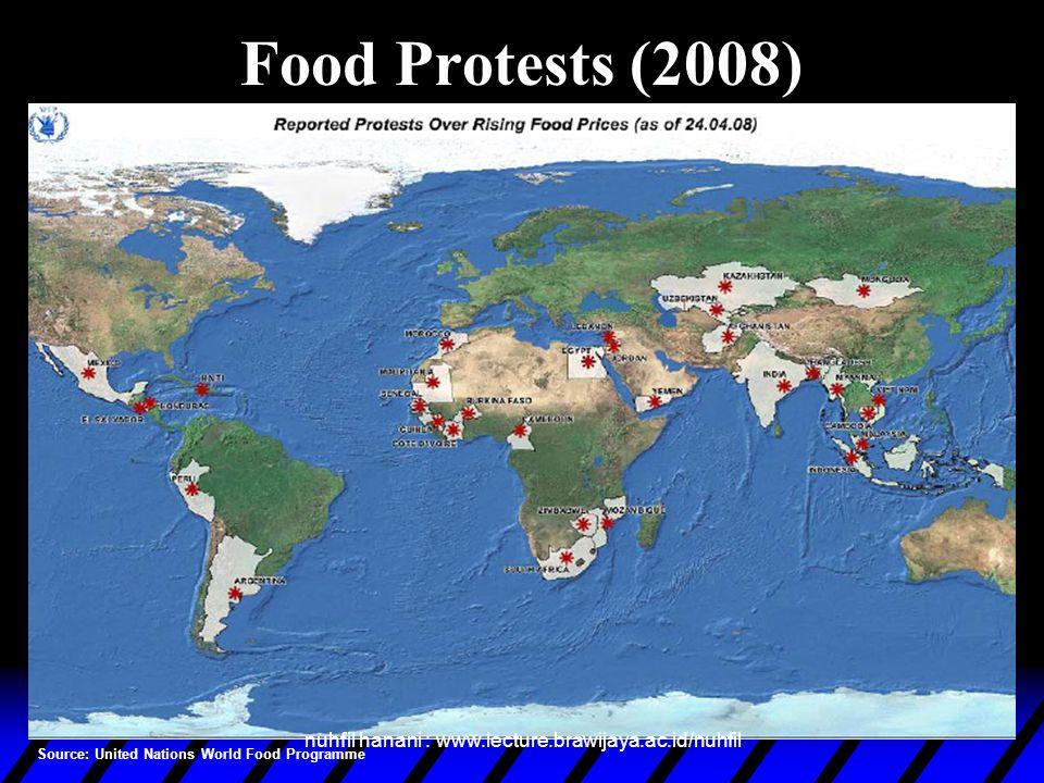 Negara yang Berisiko karena Krisis Pangan Dunia Source: United Nations World Food Programme,2008 nuhfil hanani : www.lecture.brawijaya.ac.id/nuhfil