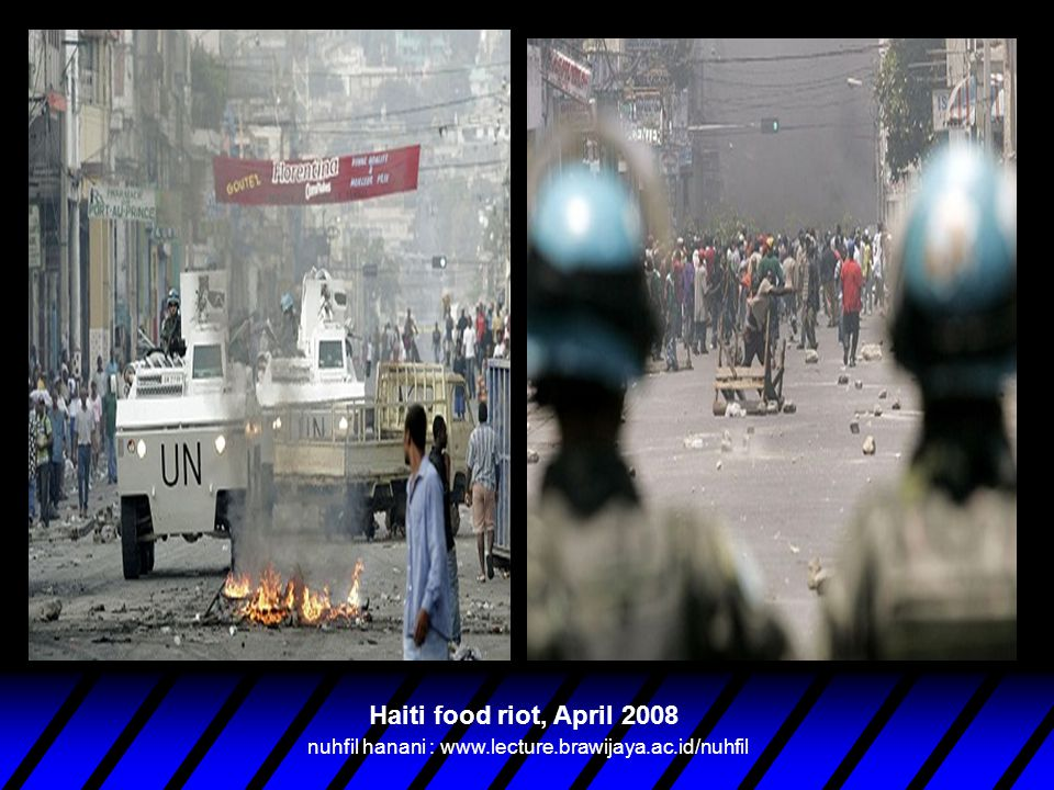 Food Protests (2008) Source: United Nations World Food Programme nuhfil hanani : www.lecture.brawijaya.ac.id/nuhfil