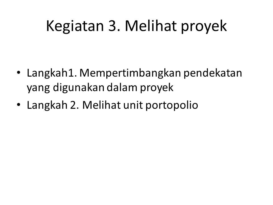 Langkah 4.Merencanakan Publikasi untuk menerangkan proyek Langkah 1.