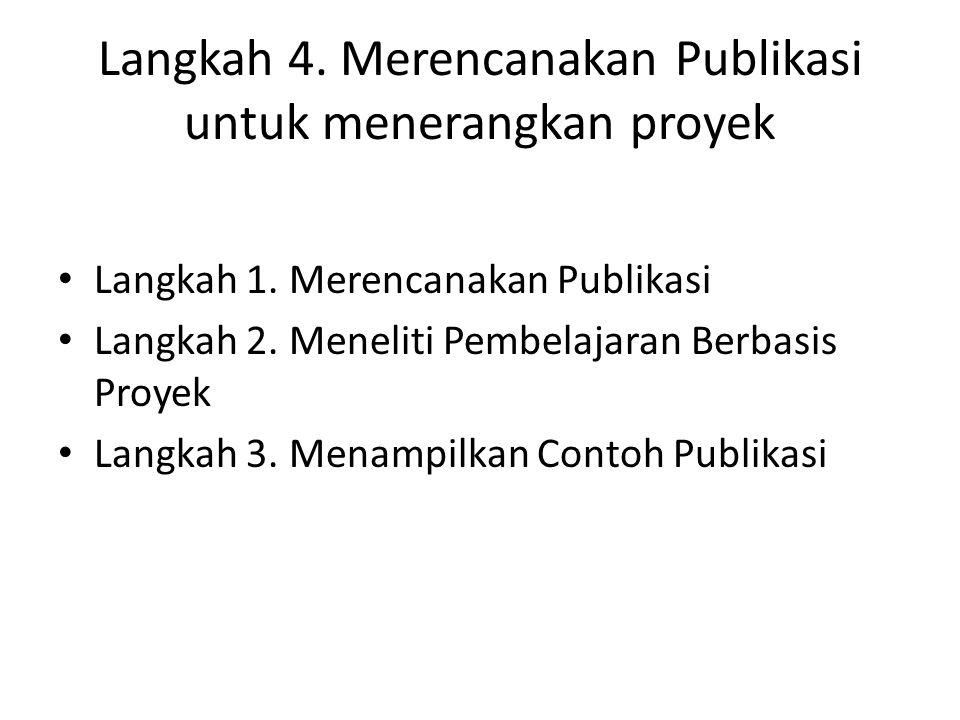 Kegiatan 5.Membuat Publikasi Saya Langkah 1. Memulai Publikasi Saya Langkah 2.