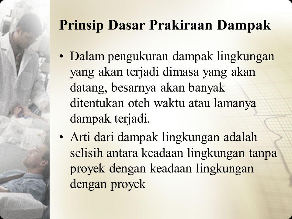 Metode Prediksi Dampak Lingkungan Soemarwoto (1989) mengklasifikasikan prakiraan dampak menjadi 2 (dua) metode, yaitu metode formal dan metode informal