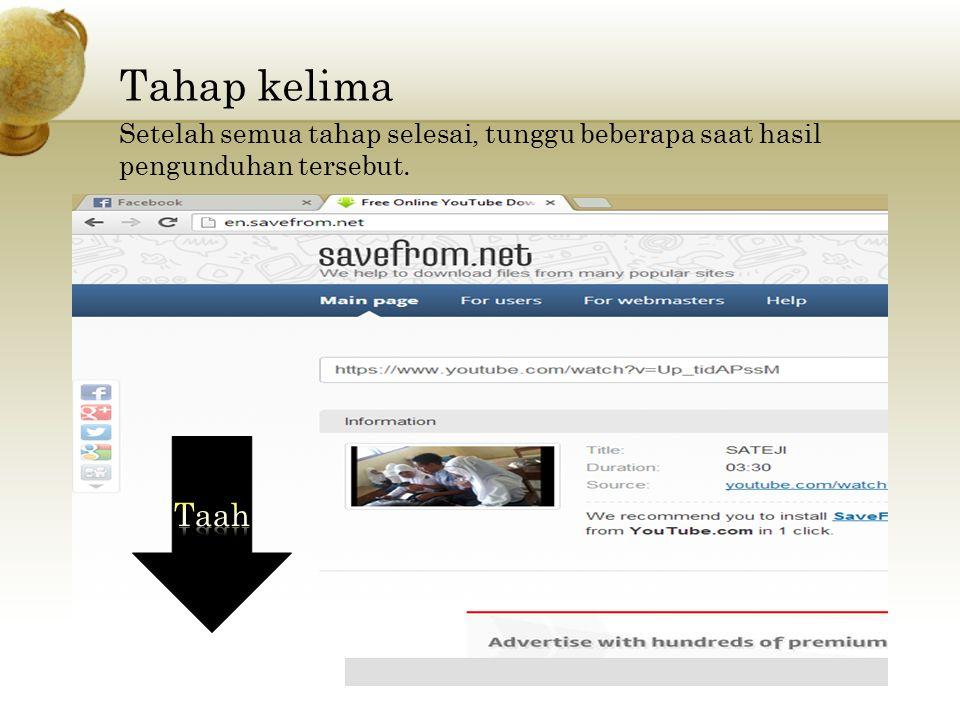 Tahap keempat Setelah laman Savefrom.net terbuka, PASTE link Video yang telah di Copy tadi. Paste disini Klik Download Lalu pilih salah satu link