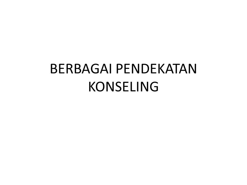 BERBAGAI PENDEKATAN KONSELING