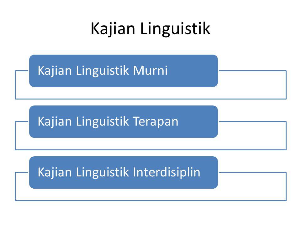 Kajian Linguistik Kajian Linguistik MurniKajian Linguistik TerapanKajian Linguistik Interdisiplin