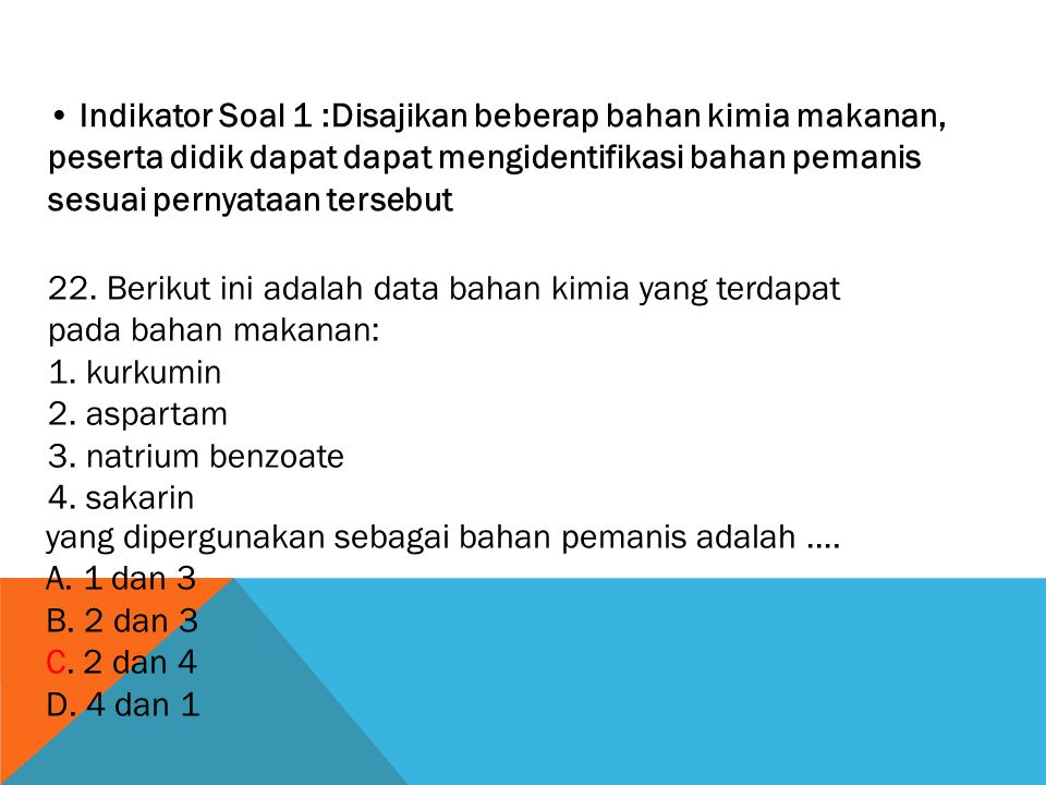 Kunci: D Pembahasan: Karena banyak dilalui air maka ginjal pada ikan air tawar berkembang dengan baik.