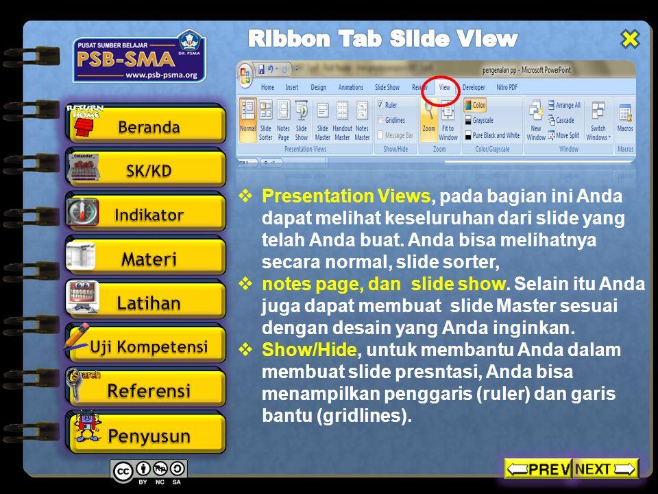  Zoom, Anda dapat memperbesar ukuran slide yang Anda buat atau secara normal.