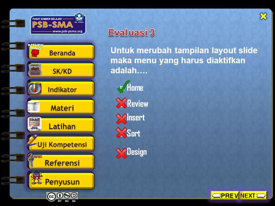Untuk membuat slide master menu yang harus diaktifkan adalah….