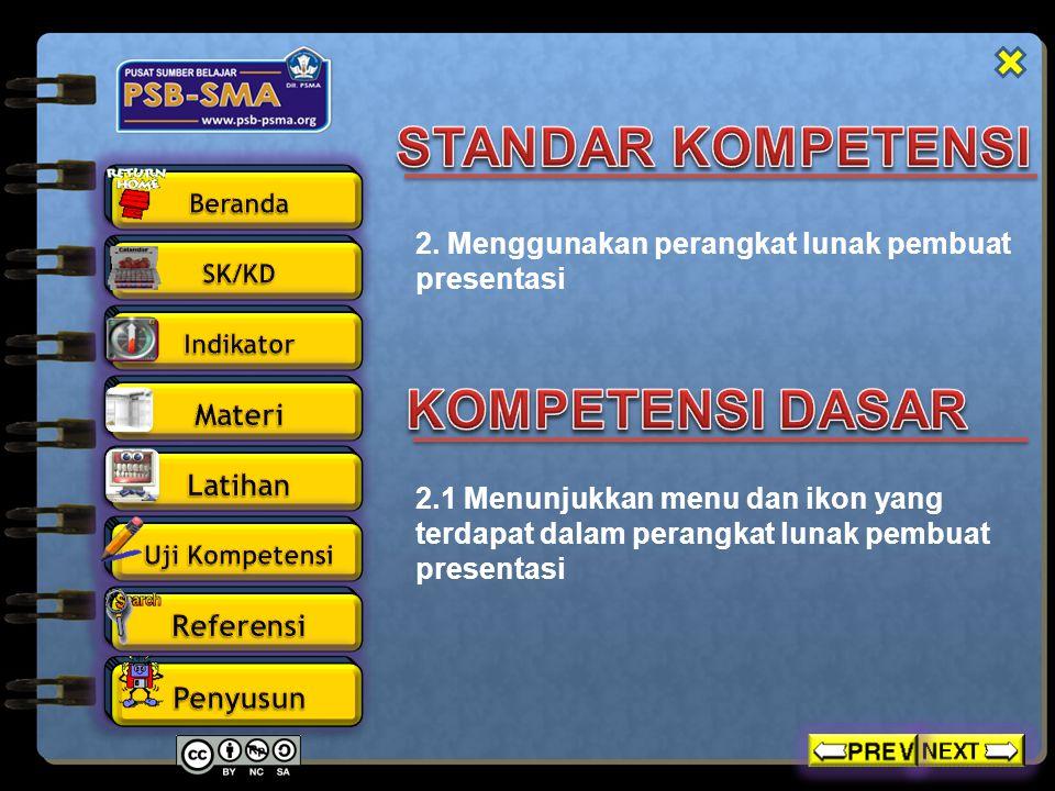  Mengidentifikasi fungsi menu, tools, dan ikon pada microsoft powerpoint 2007