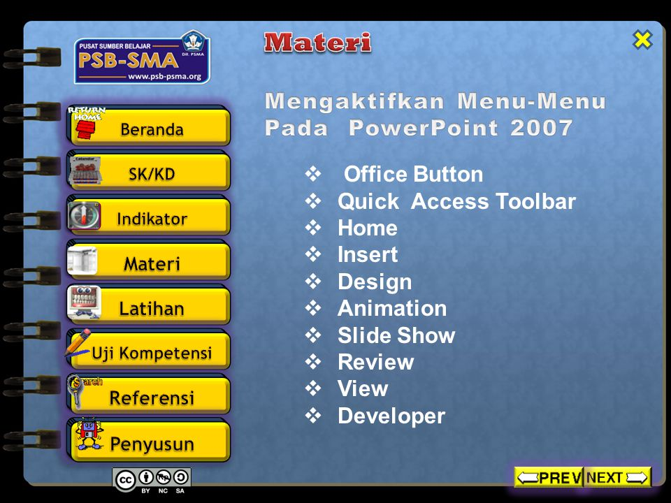  Office Button  Quick Access Toolbar  Home  Insert  Design  Animation  Slide Show  Review  View  Developer