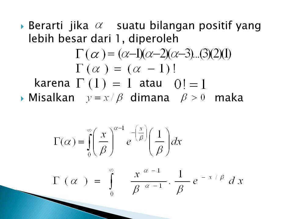  Berarti jika suatu bilangan positif yang lebih besar dari 1, diperoleh = karena atau  Misalkan dimana maka