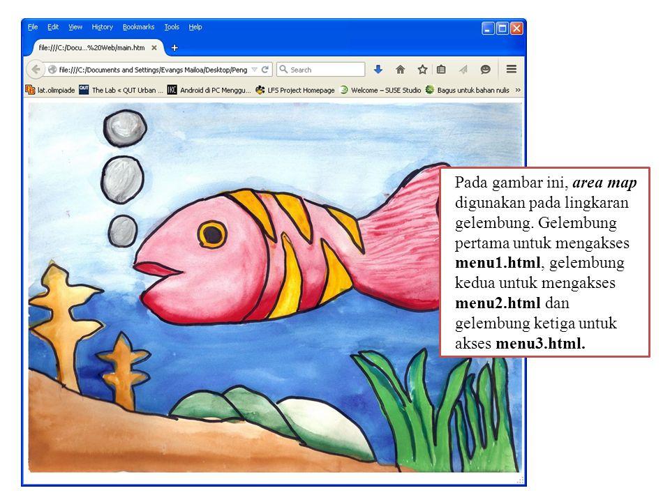 b)File menu1.html digunakan untuk halaman yang berisi data tentang tema yang ditampilkan dalam bentuk tabel.