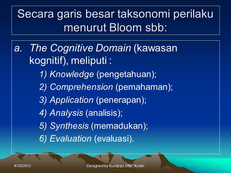 8 Taksonomi Boom (lanjutan) b.