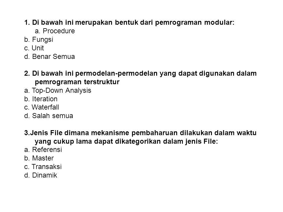 11.Di bawah ini merupakan ciri-ciri dari piranti SASD: a.