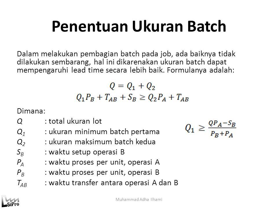 Penentuan Ukuran Batch Dalam melakukan pembagian batch pada job, ada baiknya tidak dilakukan sembarang, hal ini dikarenakan ukuran batch dapat mempeng