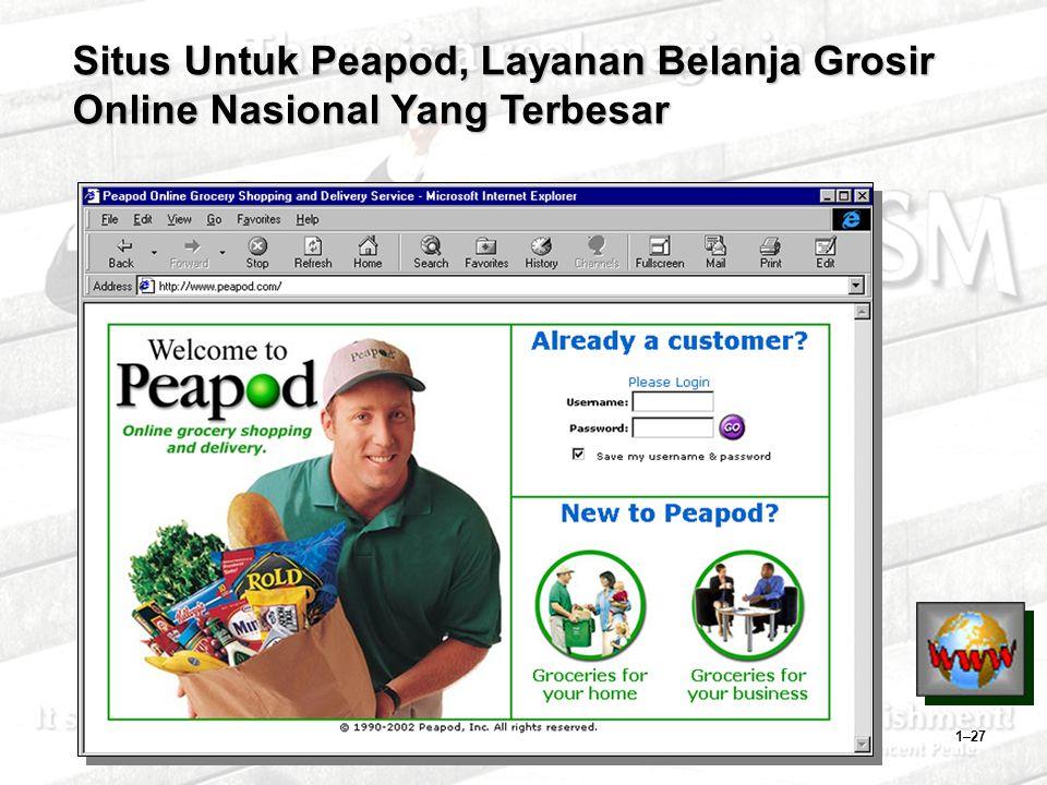 1–27 Situs Untuk Peapod, Layanan Belanja Grosir Online Nasional Yang Terbesar