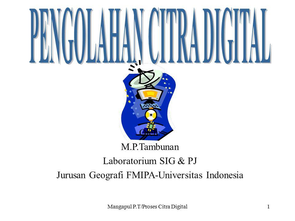 Mangapul P.T/Proses Citra Digital1 Oleh: M.P.Tambunan Laboratorium SIG & PJ Jurusan Geografi FMIPA-Universitas Indonesia