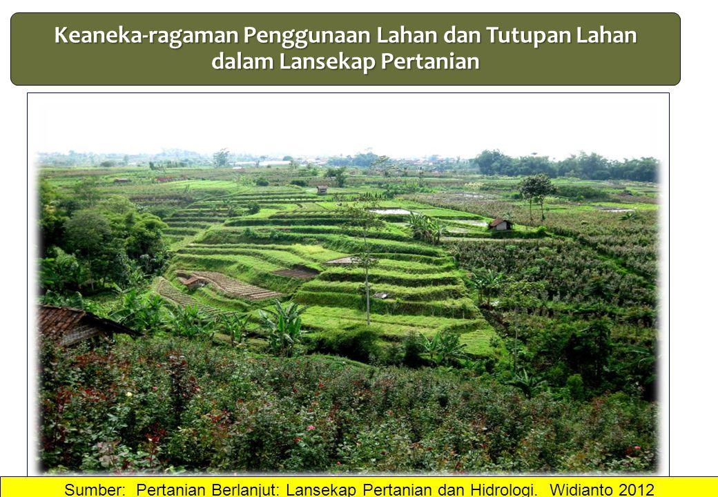 Sumber: Pertanian Berlanjut: Lansekap Pertanian dan Hidrologi. Widianto 2012