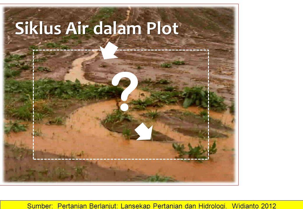 Siklus Air dalam Plot ? Sumber: Pertanian Berlanjut: Lansekap Pertanian dan Hidrologi. Widianto 2012