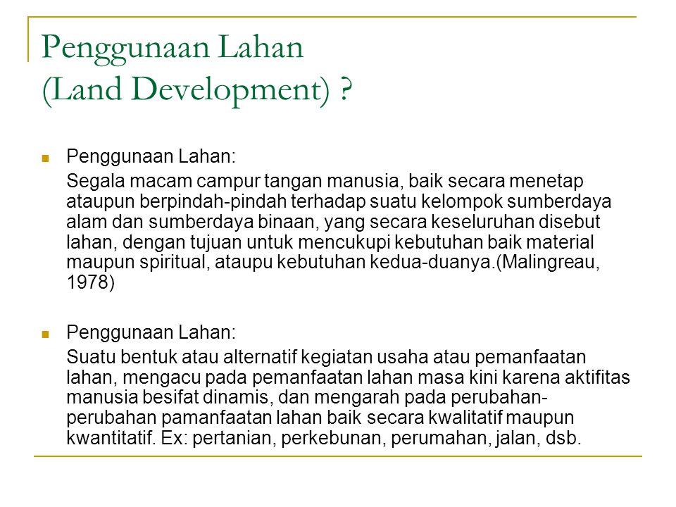 Penggunaan Lahan (Land Development) .