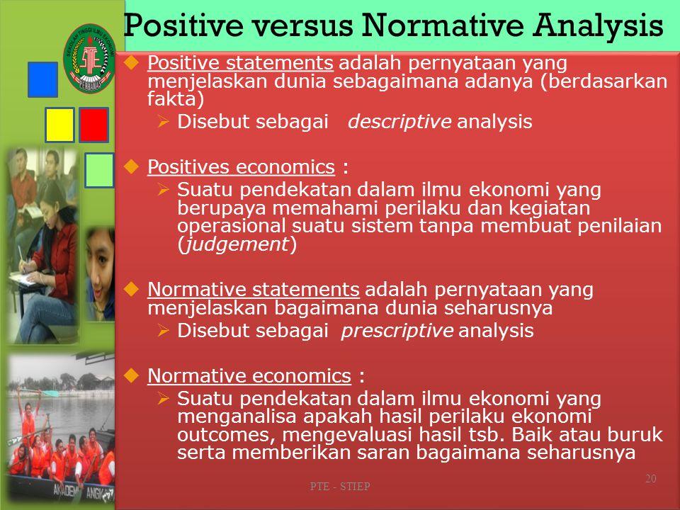 The Diverse Fields of Economics PTE - STIEP 19