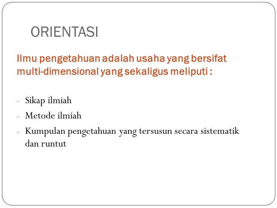 Dalam perkembangan ilmu, dilihat dari segi metodologi ada beberapa hal yang perlu di catat : 1.